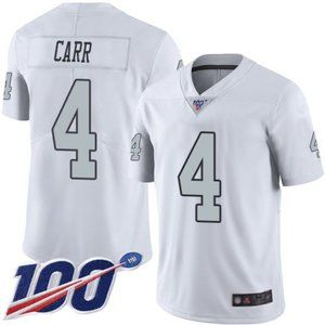 Las Vegas Raiders Derek Carr 100th Season Jersey